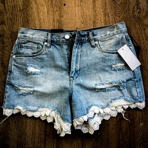 Brand New Distressed PAIGE Jean Shorts